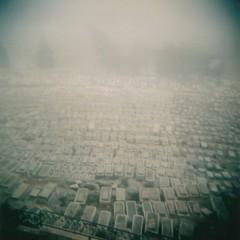 Cemetery in fog photo by sonofwalrus