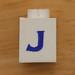 Vintage LEGO brick letter J