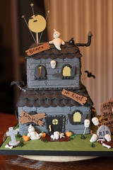 Haunted House cake photo by Andrea's SweetCakes