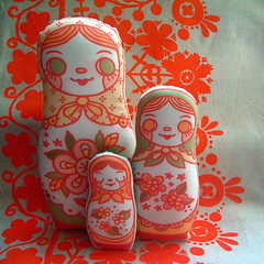 Matryoshka Flat Dolls! photo by Alicia Policia aka The Small Cat Club
