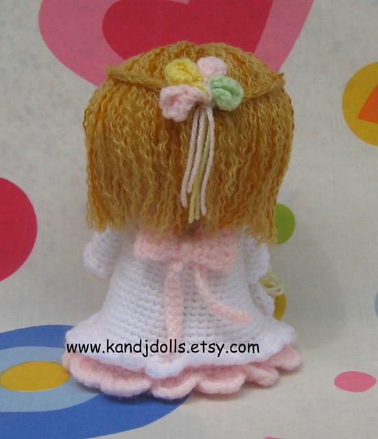 Bride Music Box Doll Fibre Craft Crochet Doll Pattern 13 inch Bed