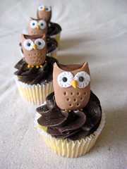 Owl Cupcake Toppers photo by ArtisanCakeCompany