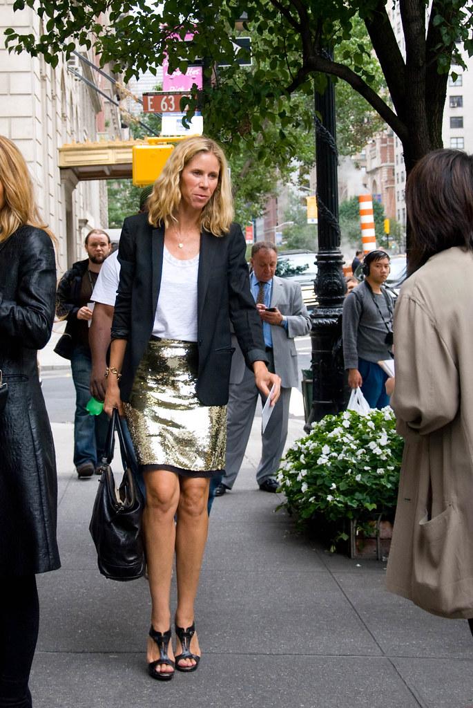 Gold Sequin Skirt, Oscar de la Renta Show
