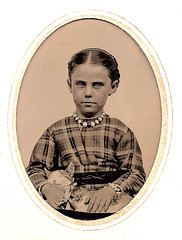Girl with the Purring Cat, 1860s photo by JFGryphon