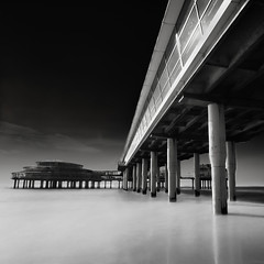 Scheveningen Pier - Square IX photo by Joel Tjintjelaar
