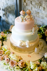 Nefeli & Dimitri's Christening Cake photo by Sweet Tiers
