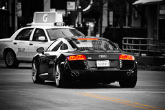 Audi R8 (B&W with recovered color) photo by multisanti