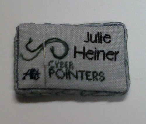 finished CyberPointers nametag