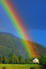 Lucky people who live at the end of the rainbow photo by haraldna