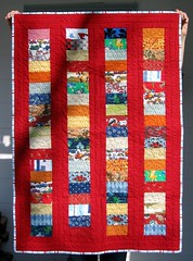 Sonja's red coin quilt photo by sleighd