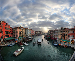 Grand Canale from the ponte del Rialto, Venezia, Italia photo by Batistini Gaston (4 million views!)
