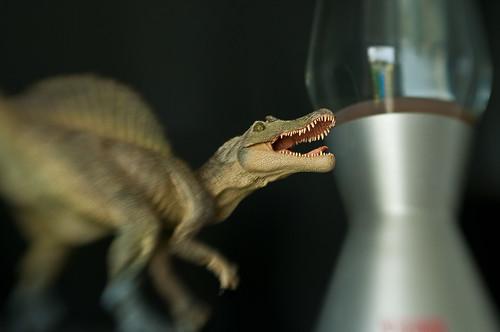 Spinosaurus en lavalamp