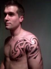 Kirituhi Shoulder photo by Tony @ 'Kirituhi Tattoo'
