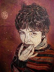 C215 - Portrait of Seny Meftah photo by C215