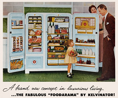 Kelvinator FOODARAMA ad, 1955 photo by Miehana