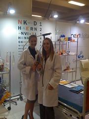 Megan and Anna, ready to give digital health checks