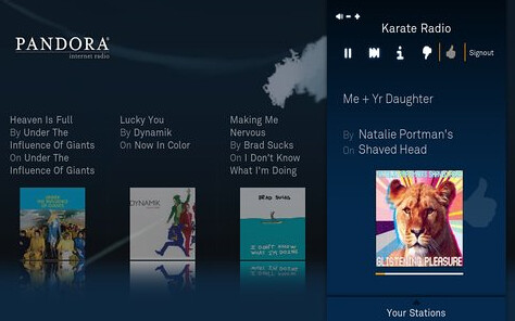Pandora in Boxee