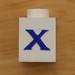 Vintage LEGO brick letter X