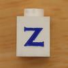 Vintage LEGO brick letter Z