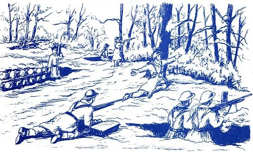 1944 - Franche Comté- Bois de Fresse en novembre - Illustration de Jean Coquil -1-(Capitaine au BM 5)