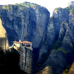 The magnificent & isolated monasteries of Meteora (Μετέωρα) photo by ... Arjun