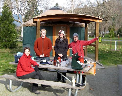 Breakfast at the Yurt