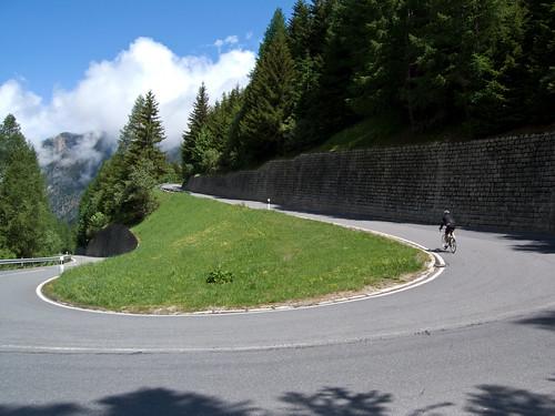Cycling up Col de la Forclaz - west side