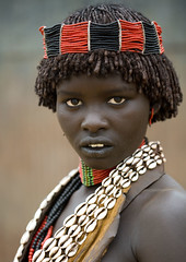 Hamar tribe girl Ethiopia photo by Eric Lafforgue