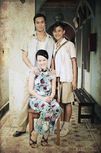 Andie Chen as Tony Lee, Edwin Goh as Lee Soon Lee & Janice Koh as ...