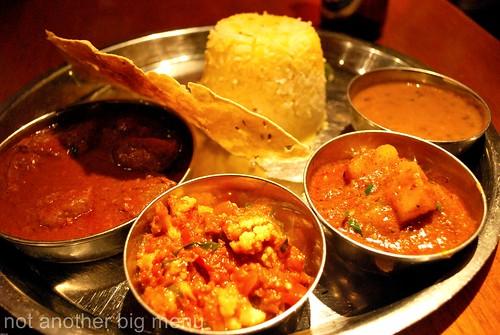 Dhaaba roghan josh Thali 3 £10.45 - Masala Zone