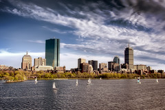 Boston Back-Bay from the Long Fellow Bridge photo by Werner Kunz