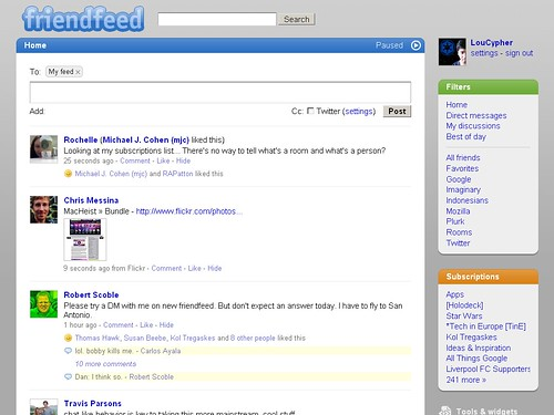 FriendFeed Beta - April 2009