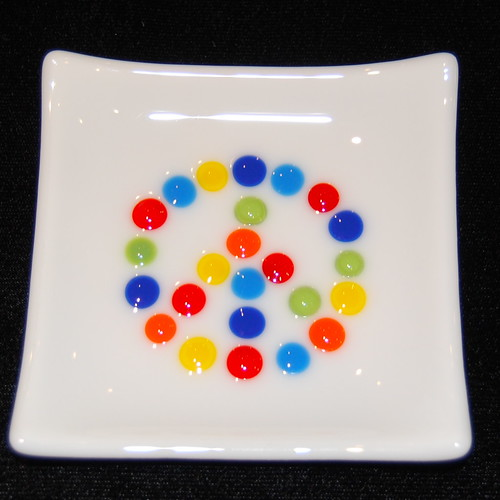Peace Sign - Little Glass Dish