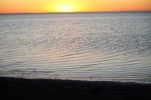 Sunset over Lake Albert