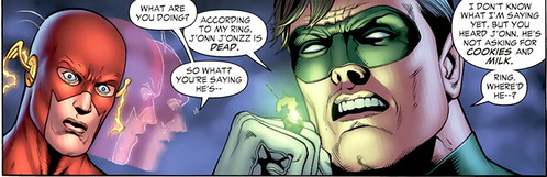 The Flash speed effect in Green Lantern 43 head turning