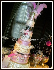 """Let Them Eat Cake"" - show cake for Una Bella Sera photo by Glass Slipper Gourmet"