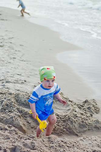 A Cute Baby at Baltic Sea