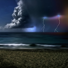 The Storm Under the Moon Light photo by Carlos Gotay Martínez