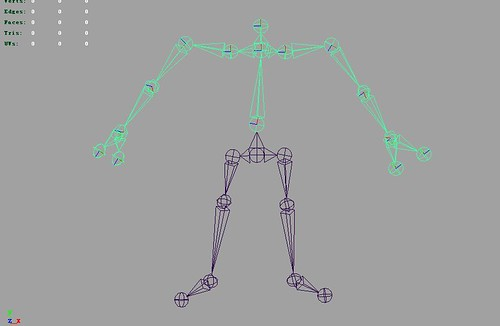 Dream & Passion: Skeleton used in Humanoid Animation