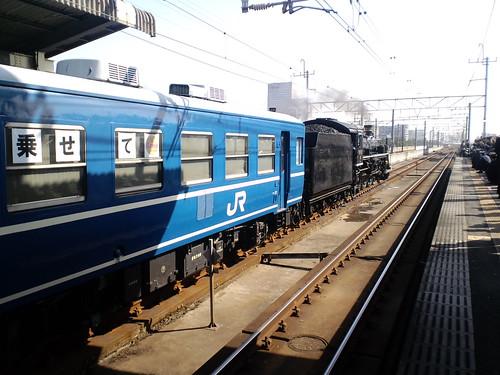 SL春さきどり号(C57)千葉みなと駅