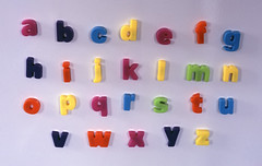 fridge letters alphabet photo by kickstock
