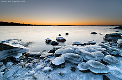 The icy entrance to dawn photo by Rob Orthen