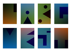 geometric gradient typography photo by labguest