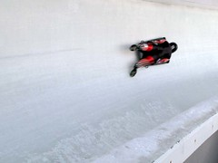 Canadian Olympic Skeleton training session