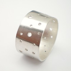 Circles Cut Out Silver Ring Custom made to fit photo by alibalijewellery