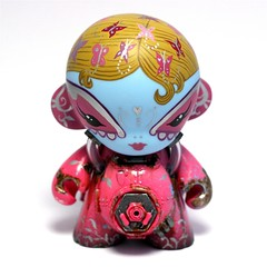 """Rockette"" - Cris Rose x Lunabee 4"" Mini Munny Collab photo by Cris Rose"