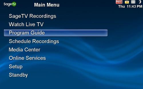 SageTV Default UI
