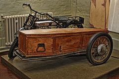 motor cycle and side coffin photo by Leo Reynolds