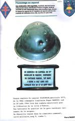 Provence-1945- Hyères- Le casque du Caporal SIADINGAR Mort pour la France