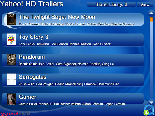 Beyond Media HD Trailers List View